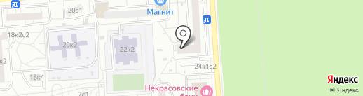 Единая Россия на карте Некрасовки