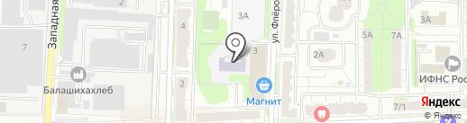 Саввол на карте Балашихи