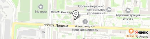 Храм Владимира равноапостольного на карте Балашихи