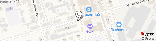 Автостоянка на ул. Льва Толстого на карте Киреевска