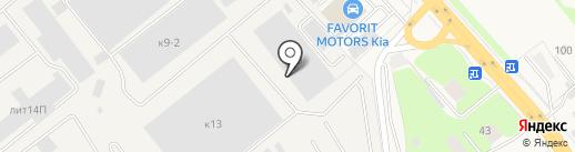 Грузовая автомойка на карте Томилино