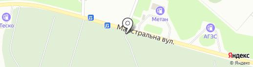Красная горка, кладбище на карте Макеевки