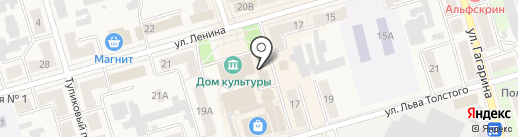 Бабочка на карте Киреевска
