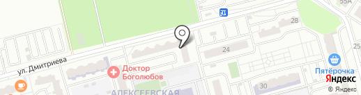 Алексеевская роща на карте Балашихи