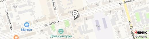 Банкомат, Среднерусский банк Сбербанка России на карте Киреевска