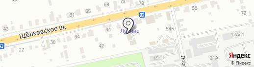 Лукино на карте Балашихи