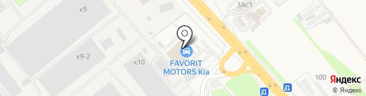 Фаворит-Моторс на карте Томилино