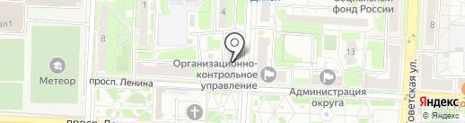 Охрана на карте Балашихи