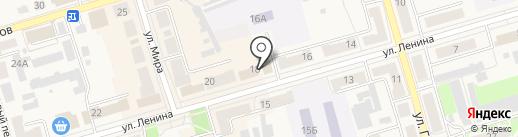 Сапожок на карте Киреевска