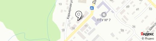 Рассвет, продуктовый магазин на карте Макеевки