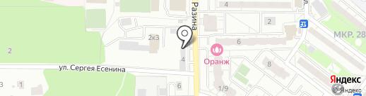 Автомастерская на ул. Степана Разина на карте Балашихи