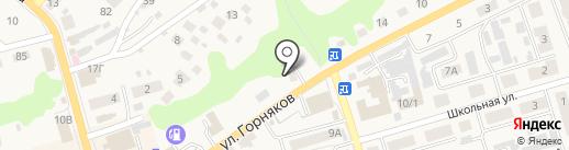 Автостоянка на ул. Горняков на карте Киреевска