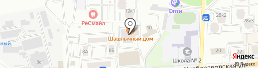 Берег Скалбы на карте Ивантеевки