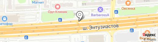 Акварель на карте Балашихи
