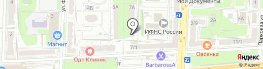 Запой на карте Балашихи