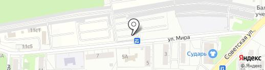 Шиномонтажная мастерская на карте Балашихи