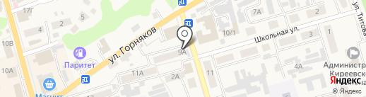 Киоск по продаже печатной продукции на карте Киреевска