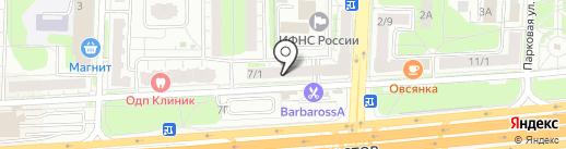 Ультрафиолет на карте Балашихи
