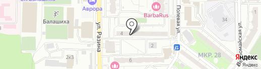 Первомайское, ТСЖ на карте Балашихи