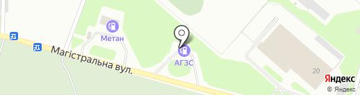 АЗС Монблан на карте Макеевки