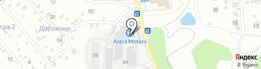 Астра Моторс на карте Ивантеевки