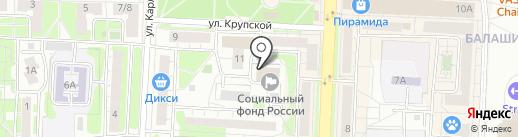 Главное управление Пенсионного фонда РФ №7 на карте Балашихи