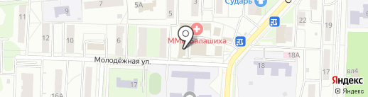 Птичка на карте Балашихи