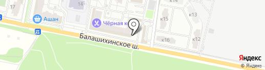Ломбард-С на карте Балашихи