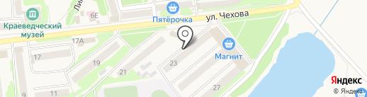 Среднерусский банк Сбербанка России на карте Киреевска