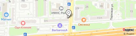 Табакерка на карте Балашихи