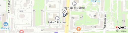 Радуга на карте Балашихи