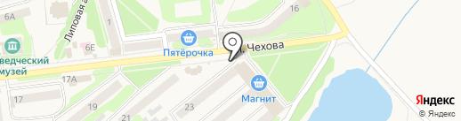 Хмельной бочонок на карте Киреевска