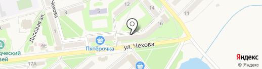 Банкомат, Московский Индустриальный банк на карте Киреевска