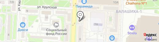 Эталон на карте Балашихи