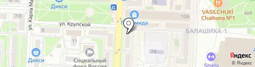 Машенька на карте Балашихи