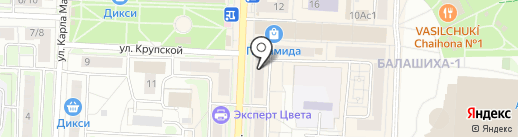 Зорька и Милка на карте Балашихи
