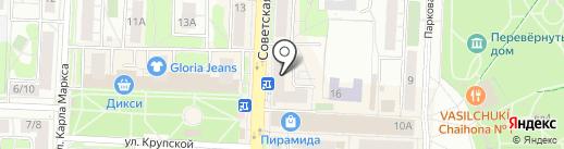 Магазин строительных материалов на Советской на карте Балашихи
