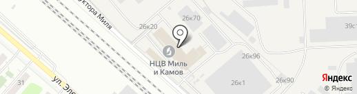 Московский вертолётный завод им. М.Л. Миля на карте Томилино