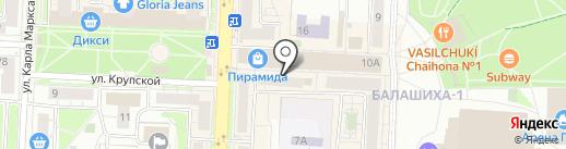 Имидж на карте Балашихи