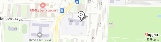 Детский сад №1, Светлячок на карте Балашихи