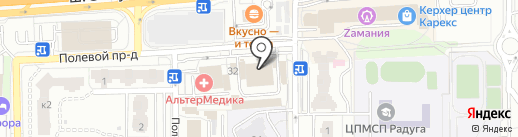 Дилижанс на карте Балашихи