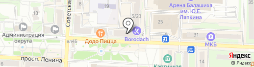 Сберкредитсоюз на карте Балашихи