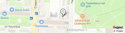1xbet на карте Балашихи