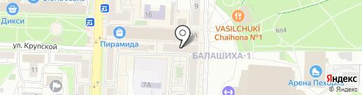 7 Квартал на карте Балашихи