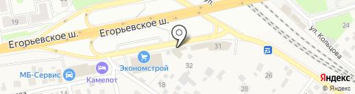 Милена на карте Томилино