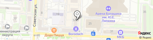 Межтопэнергобанк, ПАО на карте Балашихи