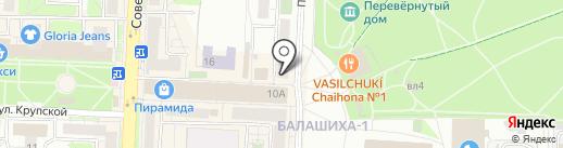 Баурсак на карте Балашихи