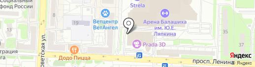 Банкомат, Газпромбанк на карте Балашихи