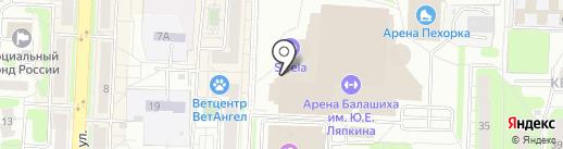 Мята на карте Балашихи