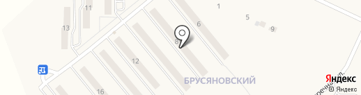 Брусяновский на карте Киреевска